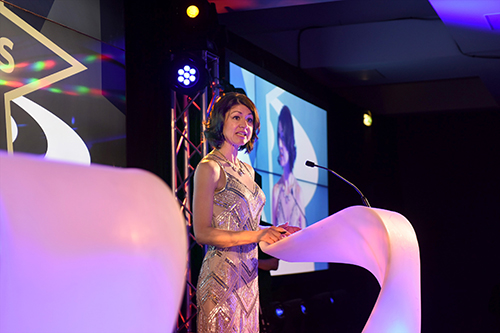 Liz McAreavey, edinburgh chamber of commerce business awards 2016 at he sheraton hotel, edinburgh