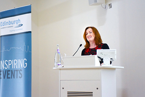 Inspiring Women in Business, conference and event photography edinburgh, Shona McCarthy Chief Executive, Edinburgh Festival