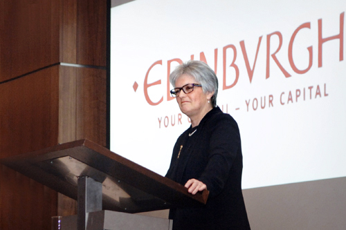 Dame Sue Bruce, conference and event photography edinburgh
