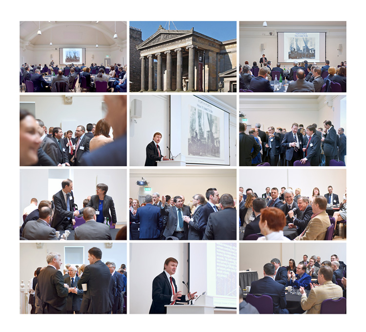 Conference and Event Photography at the royal college of surgeons. charles hammond, forth ports with edinburgh chamber of commmerce