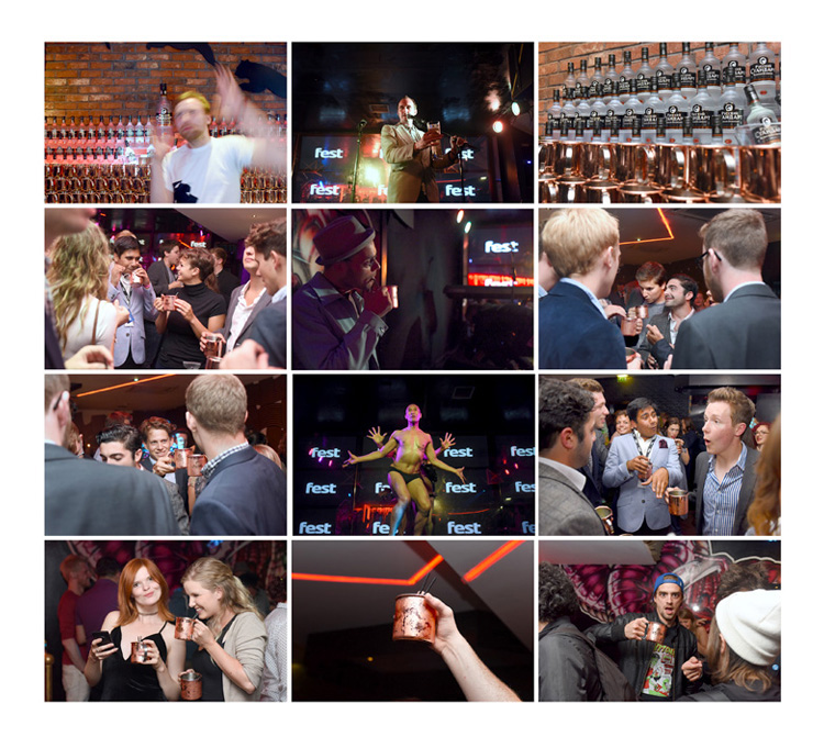 Fest magazine launch party photography, russian standard vodka sponsored event