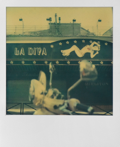 La Diva, Pigalle, Paris. Polaroid image. Photography Exhibition Edinburgh