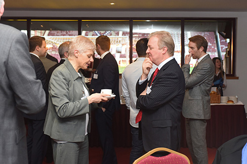 ann budge, interviewed by david tanner. event photography at tynecastle edinburgh