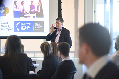developing the young workforce, careers in investment management. pr photography edinburgh