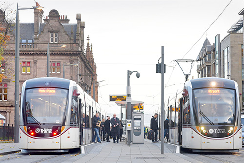 Edinburgh Tram photographs, Edinburgh city centre