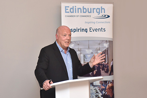 event at Principal George Street Edinburgh with Jim McColl