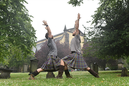 Kilted Yogis at the Grassmarket Community Project