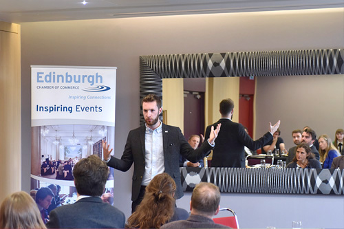 Edinburgh Chamber of Commerce Entrepreneurs Lunch with Bruce Walker