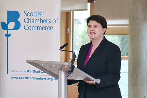 Scottish Chamber of Commerce Event at the Scottish Parliament with Ruth Davidson